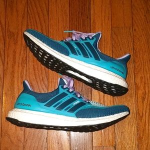 Adidas Ultraboost 2.0 Green/Aqua Women's 9.5